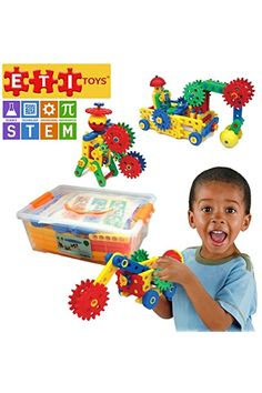 ETI Piece Educational Engineering Building Set for 4 5 6 7 Year Old Boys Girls Fun Learning Construction Blocks Gears Kit makes it the Best STEM Toy Gift for Kids Ages 8 yr >>> Check this awesome product by going to the link at the image. Educational Toys For Kids, Kids Toys, Stem Skills, Wooden Playset, Horse And Buggy, Stem Learning, Building Toys, Kids Building, Old Boys