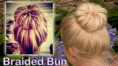 Elegant braided updo hairstyle for everyday Rolled bun for medium and long hair tutorial, via YouTube.