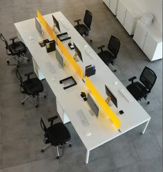 benching Office Furniture, Office Desk, White Office, White Desks, Office Interiors, Bench, Studio, Table, Projects