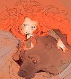 Brave sketch by *Barukurii - Merida and Elinor Disney Pixar, Disney Amor, Arte Disney, Disney Fan Art, Disney And Dreamworks, Disney Love, Disney Magic, Disney Characters, Disney Princesses