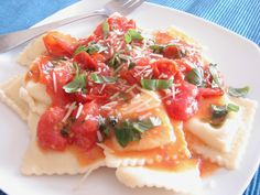 Cheese Ravioli with Brown Butter Tomato Sauce