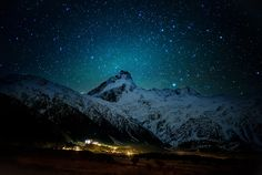 I went here to Mount Cook with my friend Stu. We decided to sleep in the back of the pickup, but it was so horribly uncomfortable that we decided to move to inside the truck halfway through the night. - Mount Cook, New Zealand - Photo from #treyratcliff Trey Ratcliff at http://www.StuckInCustoms.com