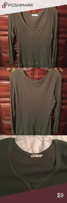 Army green waffle top Army green color waffle top. Old Navy Tops Tees - Long Sleeve