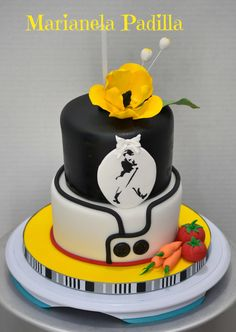 Johnnie Walker cake for her and chef cake for him. This one was for a couple.