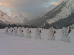 Schneemänner in Leutasch!