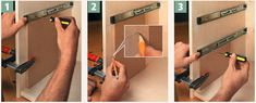 Easy placement of drawer glides without a plastic glide jig Woodworking Box, Woodworking Workshop, Woodworking Techniques, Woodworking Projects, Installing Drawer Slides, Closet Drawers, Wood Shop Projects, Diy Cabinets, Diy Furniture