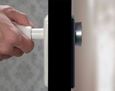 doorknob - to lock a door, you pull the handle in, so there's nothing to even open it with.