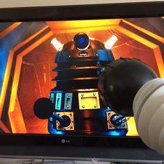 """8 Likes, 2 Comments - Paul Clews (@paulkclews) on Instagram: """"My #Dalek watching #DrWho last night #Whovian #WeAreDevon #DevonLife #DrWho #DoctorWho #DalekSec…"""""""