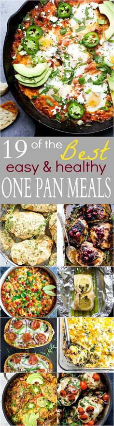 19 of the BEST Easy & Healthy One Pan Meals - everything made in one pan for easy cleanup. These quick dinner recipes will become family favorites!