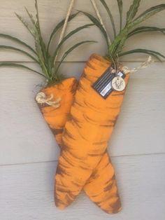 2 large Handmade Wooden Carrots, Spring / Easter Decor Front Door Wall hanging    eBay