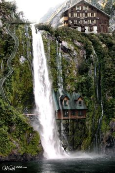 House under the waterfall