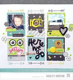 American Crafts Amy Tangerine Plus One Sticker Roll Project Life Layouts, Project Life Cards, Scrapbook Sketches, Scrapbook Page Layouts, Photo Layouts, Scrapbooking Ideas, Scrapbook Paper Crafts, Scrapbook Cards, Amy Tangerine