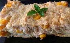 Torta de frango com tapioca