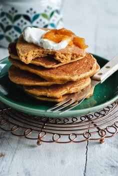 Bezglutenowe pancakes marchewkowe Gluten Free Recipes, Free Food, Lunch Box, Good Food, Food And Drink, Breakfast, Crafts, Per Diem, Morning Coffee