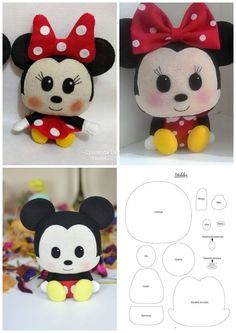 - Felt Crafts Patterns - Easy Crafts For Kids To Make Not Messy - - Cool Arts And Crafts For Kids Videos Felt Doll Patterns, Felt Animal Patterns, Felt Crafts Patterns, Felt Crafts Diy, Plushie Patterns, Felt Diy, Handmade Felt, Stuffed Animal Patterns, Pdf Patterns