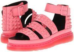 Dr. Martens - Liza Studded Sandal (Acid Pink Smooth) - Footwear on shopstyle.com