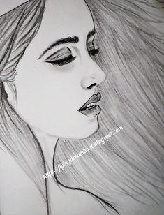 Pencil Shading, Pencil Art, Pencil Drawings, Art Drawings, Side Face Drawing, Drawing Faces, Face Sketch, Drawing Sketches, Celebrity Drawings