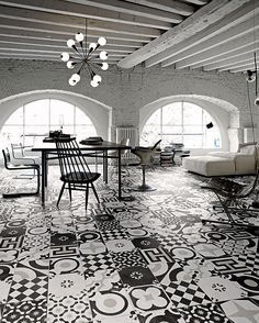 From Fioranese Ceramica, these modern art deco tiles rock the black and white look, don't they? Available in 12 different styles, they were designed by Silvia Stanzani. Fioranese has been...
