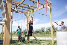 DIY Ranch-Style American Ninja Warrior Course – Sunny and 79