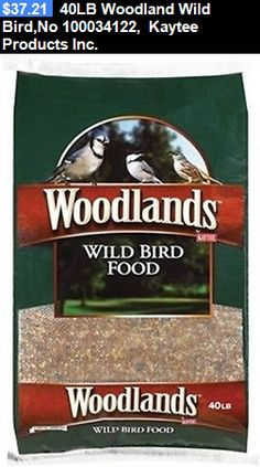 Food and Treats 116494: 40Lb Woodland Wild Bird,No 100034122, Kaytee Products Inc. BUY IT NOW ONLY: $37.21
