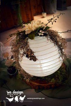paper lantern table centerpieces   Final paper lantern centerpiece