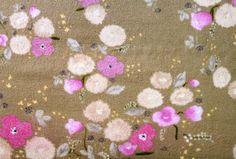 Nani Iro Japanese Fabric Little Letter A/W 2012 - metallic pink on latte - fat quarter. $5.50, via Etsy.