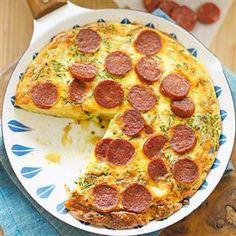 Chorizo and potato frittata recipe Chorizo Frittata, Potato Frittata, Breakfast Frittata, Quiche, Sweet Recipes, Yummy Recipes, Dinner Recipes, Yummy Food, Healthy Recipes