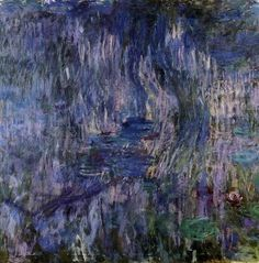 Water-Lilies, Reflection of a Weeping Willow Claude Monet - Musée Marmottan Monet - Paris (France) Painting - oil on canvas Flower Painting, Claude Monet Water Lilies, Plein Air Landscape, Tree Wall Art, Impressionist Paintings, Painting Prints, Art, Monet Water Lilies, Oil Painting Reproductions