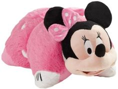 My Pillow Pets Authentic Disney Minnie Mouse 18-Inch Folding Plush Pillow, Large $29.99 here on amazon.com & eligible for FREE Super Saver Shipping  find more items like this at www.ddsgiftshop.com visit and like us on facebook here www.facebook.com/pages/DDs-Gift-Shop/113955198649056