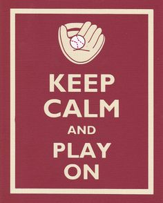 Keep Calm and Play On Baseball Graphic Wall Art by bluesblossom, $12.00