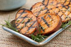 grilled sweet potatoes with rosemary