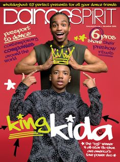 """SYTYCD: The Next Generation"" Champs Kida Burns and Fik-Shun on our December 2016 cover (photo by Joe Toreno)"