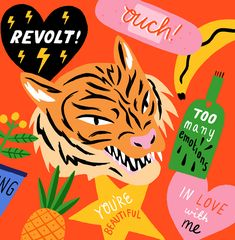 Ruby Taylor | Illustrator | Central Illustration Agency #illustrator #illustration #detail #bright #playful #animal #tiger