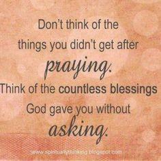 good reminder...