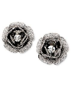 Betsey Johnson Earrings, Rose Bud Stud - All Fashion Jewelry - Jewelry & Watches - Macy's