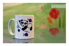 """Tazas personalizadas! Pintadas a mano por """"las tazas de silvia"""" #mug #taza #personalizada #regalo #original #panda"""
