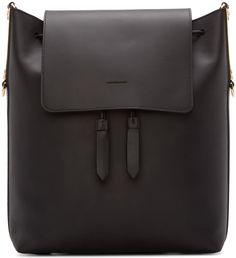 Sophie Hulme - Black Leather Claremont Backpack