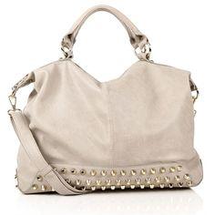Stone Studded Bottom Handbag (€30) ❤ liked on Polyvore featuring bags, handbags, shoulder bags, accessories, purses, bolsas, hand bags, pink handbags, purse shoulder bag and handbag purse