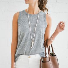 gray + white summer style