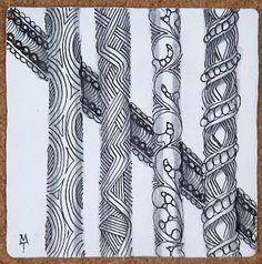 Zentangle: Line 'em Up! ~ by Maria Thomas
