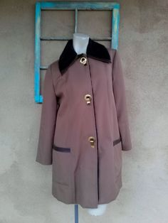 Vintage 1970s Coat Toggle All Weather US 10 12 2014353 - pinned by pin4etsy.com