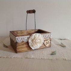 A personal favorite from my Etsy shop https://www.etsy.com/listing/264931285/flower-girl-basket-rustic-flower-girl