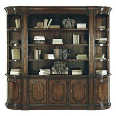 "Some of you have to get in on this: Bernhardt ""Artisian Estate"" Wall Unit Classic House, Display Shelves, Adjustable Shelving, My Dream Home, Interior And Exterior, Exterior Design, Living Room Decor, Dining Room, Home Goods"