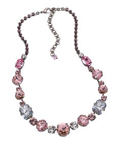 Sorrelli Pink Crystal Romance Necklace *