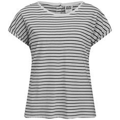 Vero Moda Women's Stripe T-Shirt ($19) ❤ liked on Polyvore featuring tops, t-shirts, shirts, short sleeve shirt, tees, white, stripe t shirt, breton shirt, white short sleeve shirt and breton striped shirt