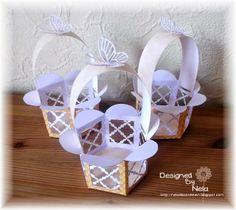 Nelasbasteleien: Osterkörbchen in Blütenform