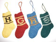 Ravelry: Hogwarts Mini House Sock Ornaments pattern by Marie Wright