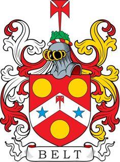 Belt coat of arms ~ familiewapen, wapenschild, Wappen
