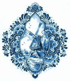 Image result for delft windmill drawing