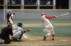 St. Louis Cardinals Roger Maris (9) in action, at bat vs Boston Red Sox at Busch Stadium. Game 4. Herb Scharfman X12711 )